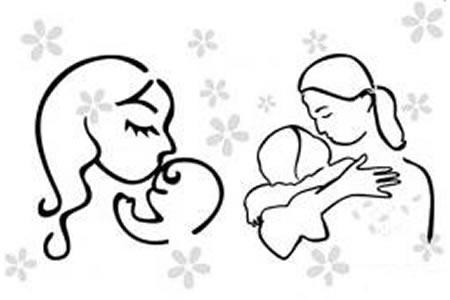 母亲节人物简笔画素材