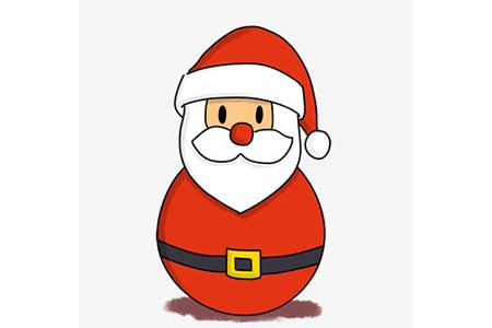 圣诞老人不倒翁的画法