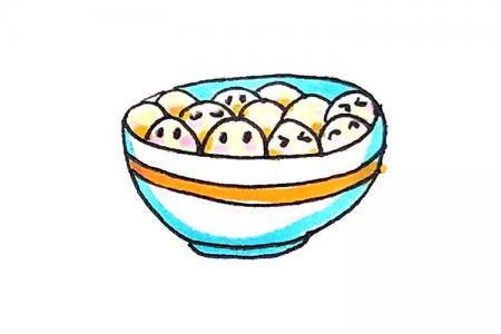 一碗汤圆怎么画