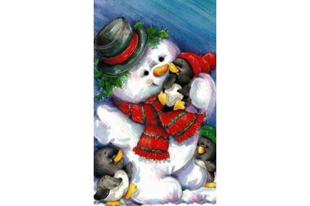 爱企鹅的小雪人国外绘画作品在线看