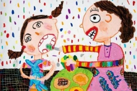 最幸福的事幼儿母亲节主题画作品赏析