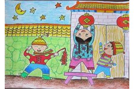 2017年新年创意儿童画作品欣赏