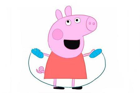 粉红小猪之小猪佩奇跳绳