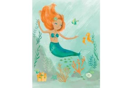 漂亮的美人鱼海底世界创意画作品分享