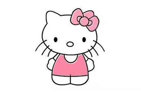 超可爱的粉粉Kitty猫的画法