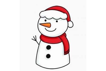 圣诞节简笔画大全如何画雪人