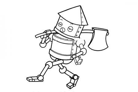 扛着斧子的机器人