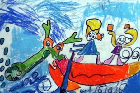 节日主题儿童画-深情端午