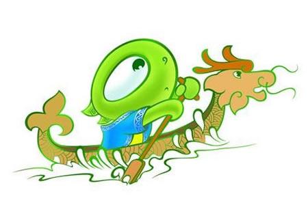 端午节儿童画欣赏-绿色端午情