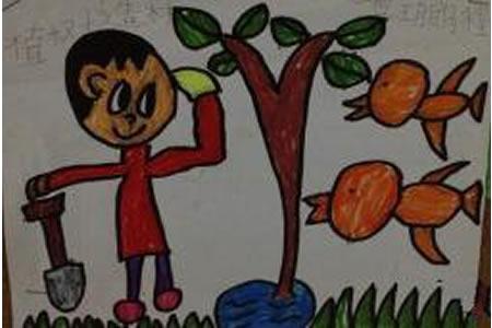 种绿树造森林有关植树节的画分享