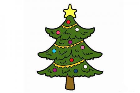 2张简单漂亮的圣诞树简笔画