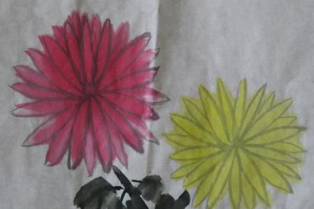 重阳节儿童画图片-美丽秋菊