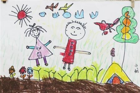 关于清明节儿童画-清明节踏青