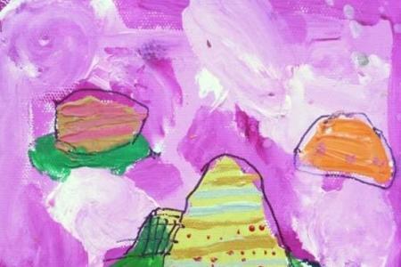 端午节粽子儿童水粉画作品欣赏