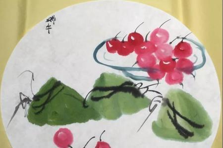 水墨粽子端午节儿童国画作品分享
