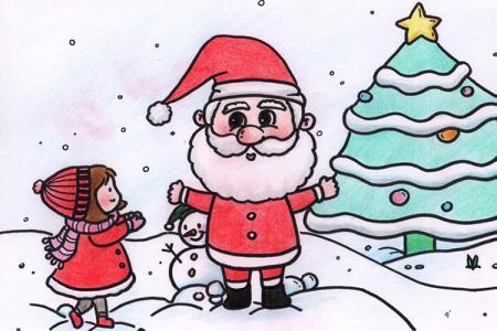 一波圣诞节主题手绘小画