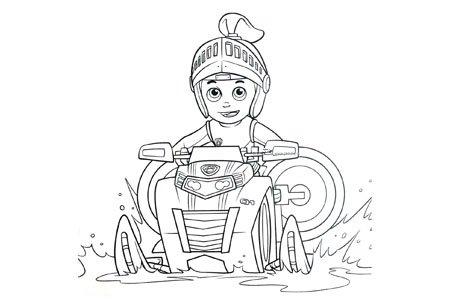 莱德开着水上摩托