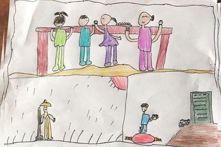 四年级小朋友清明节主题画