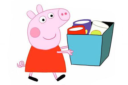 一步一步学画小猪佩奇搬东西