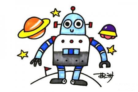 机器人怎么画