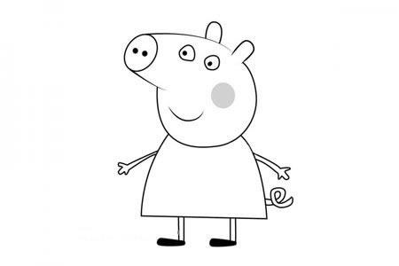 小猪佩奇之小猪克洛伊简笔画