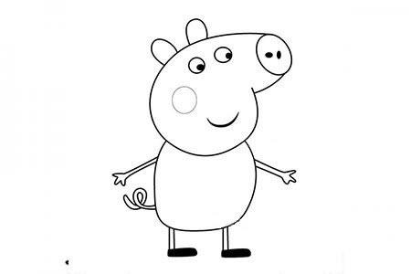 小猪佩奇之小猪托拜厄斯简笔画