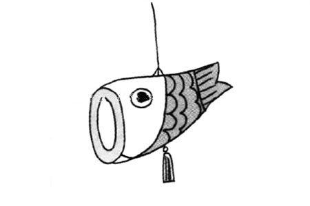 春节的节日元素 鲢鱼灯