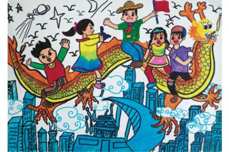 端午节儿童画欣赏-和我们一起飞吧