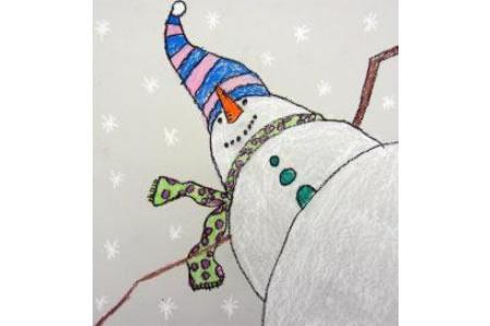 雪人的祝福国外冬天绘画作品在线看