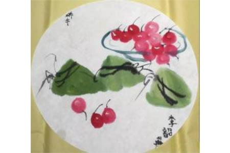 水墨粽子端午节国画