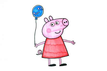 拿着气球的小猪佩奇
