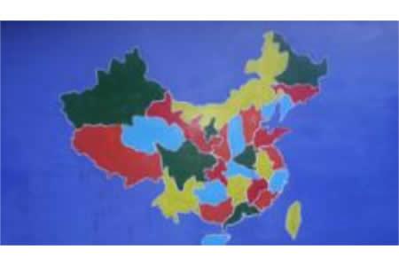 国庆节主题儿童画作品欣赏-我们的祖国好大的一个家