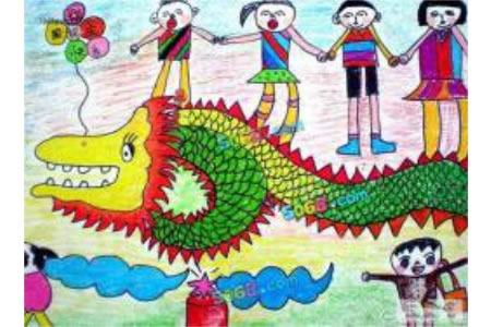 庆祝国庆节儿童画-国庆欢乐汇