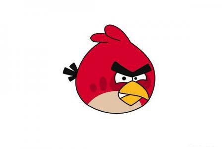 红色的愤怒小鸟怎么画