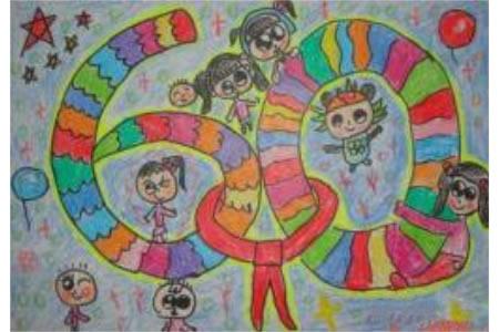 庆祝国庆节儿童画-庆祝祖国华诞