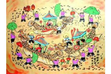 儿童画歌声迎新年