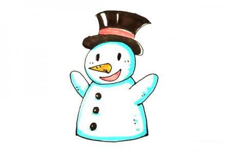 儿童轻松学画雪人