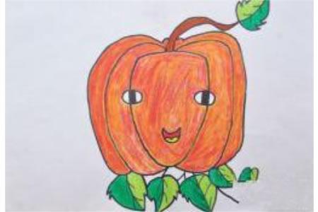 万圣节儿童画图片-南瓜
