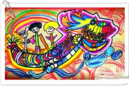 端午节儿童画图片-端午节快乐