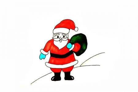 怎么画圣诞老人