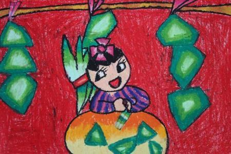 粽子飘香的时节端午节情景画图片欣赏