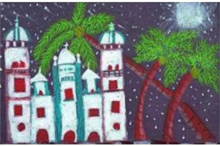 国外获奖儿童画图片-苏帕的神圣教堂