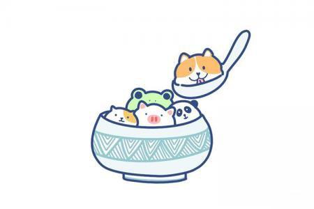 画一碗萌宠汤圆