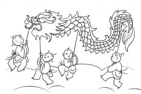 节日舞狮简笔画图片
