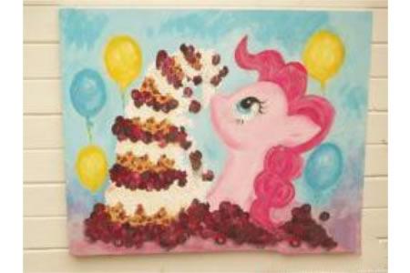 小马宝莉的生日水彩画作品在线看