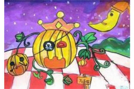 万圣节主题儿童画-搞怪万圣节