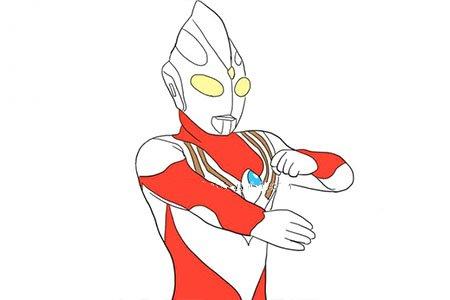 力量形态的红色迪迦奥特曼