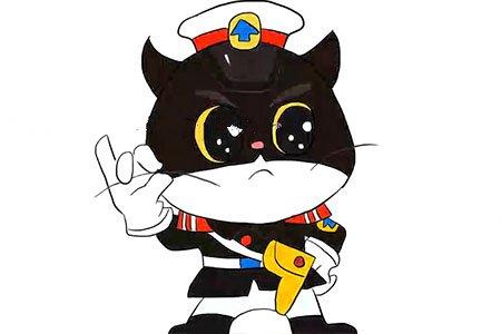 可爱的Q版黑猫警长