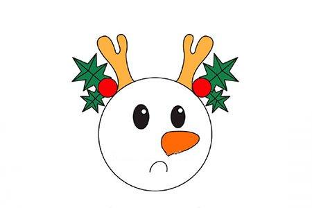 9张可爱的雪人头像简笔画