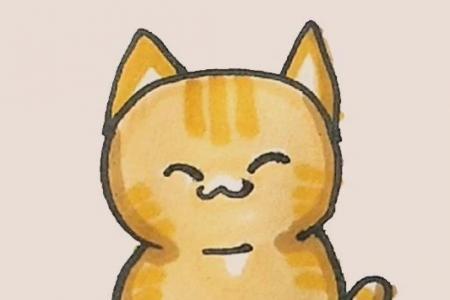简笔画之橘猫